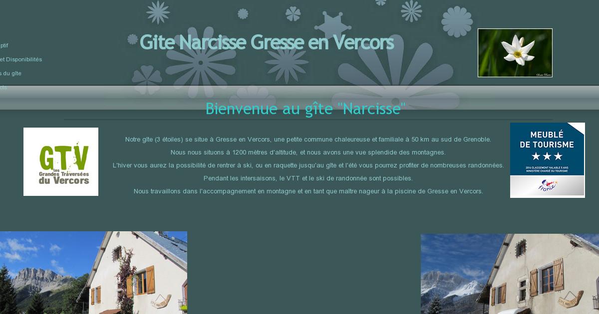 Gite narcisse gresse en vercors accueil - Office du tourisme gresse en vercors ...
